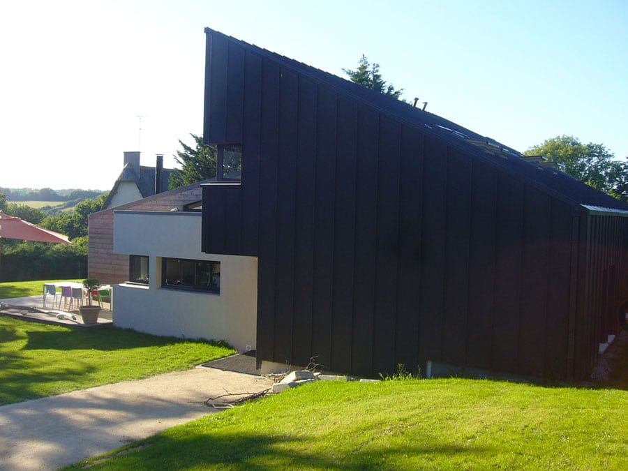 Construction architecte bois zinc Morbihan