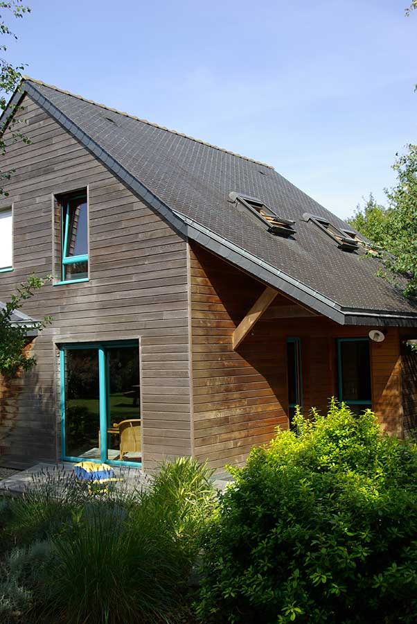 Construction auvent et terrasse à proximité d'Auray dans le Morbihan