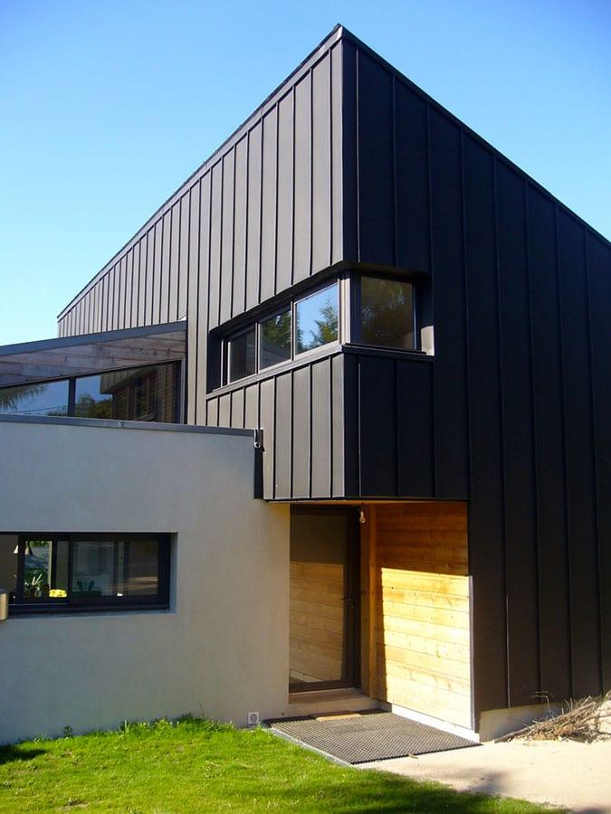 Construction entrée façade zinc Morbihan