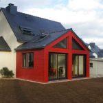 Extension ossature bois sur une maison traditionnelle Morbihan
