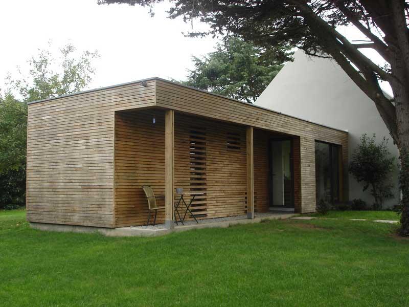 Extension ossature bois plain-pied sur une maison néo-bretonne Morbihan