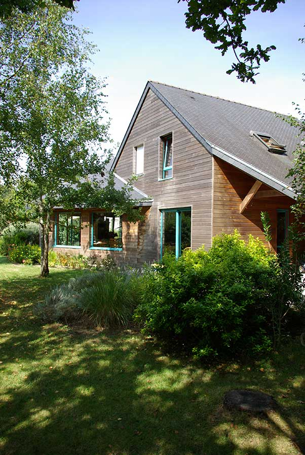 Construction maison architecte bois Morbihan, proche d'Auray