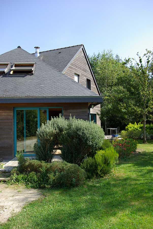 Construction maison bois ardoise Morbihan