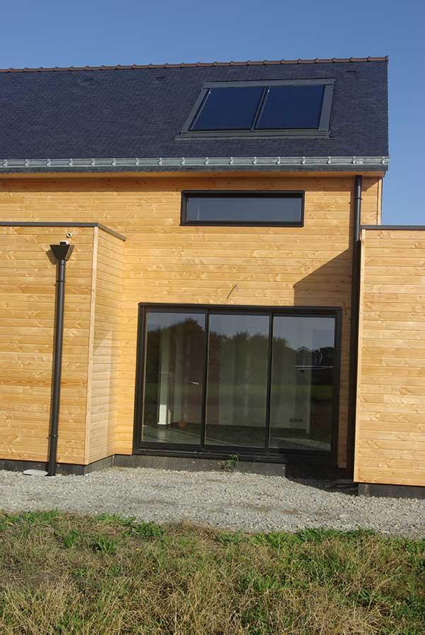 Construction maison bois Saint Hélène - Ria d'Etel