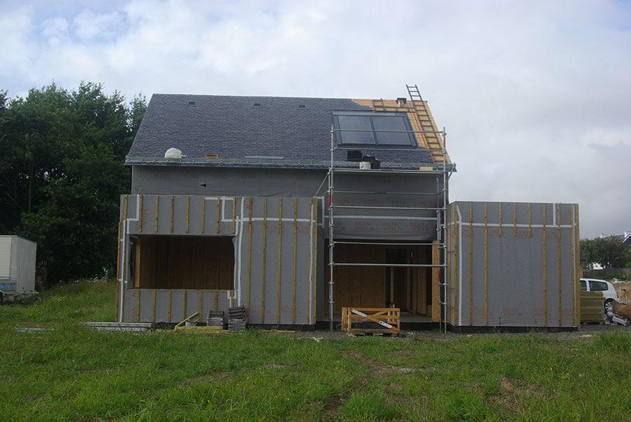 Maison en construction à Sainte Hélène