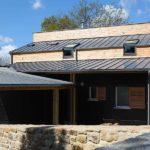 Construction maison bois toiture zinc Morbihan