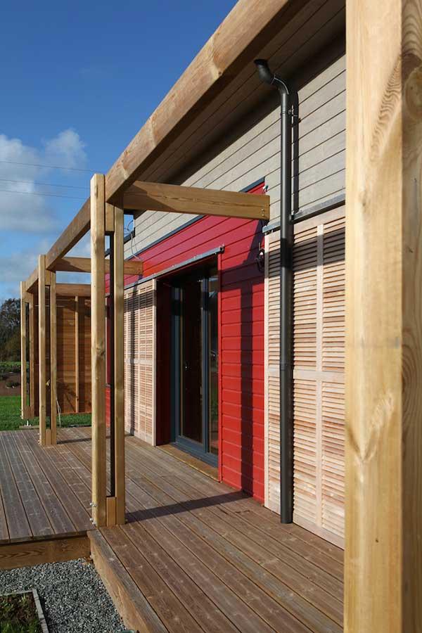 Construction d'une pergola et terrasse bois, dans le Morbihan