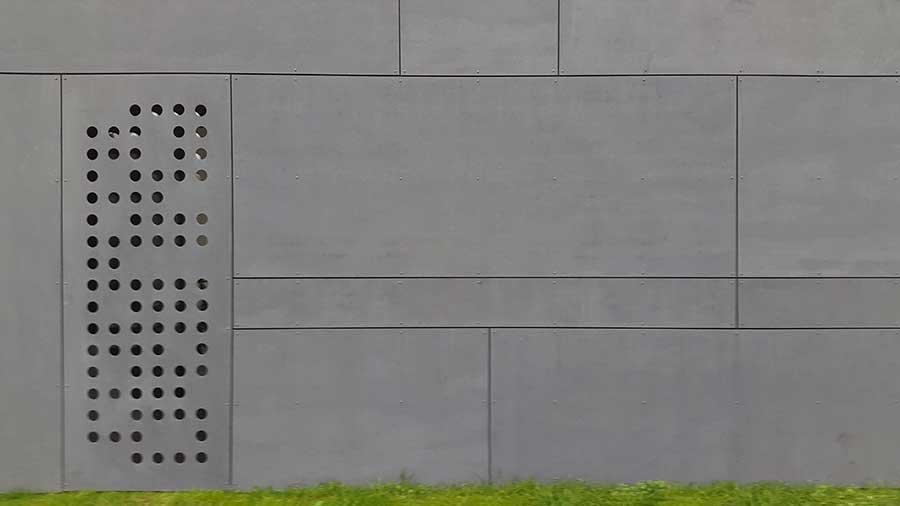 Détail de l'architecte